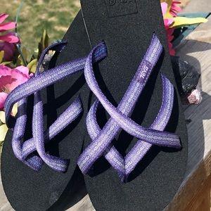 Teva Mush Flip Flops Sandals  Thongs Size6